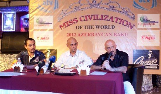 В Азербайджане пройдет конкурс «Miss Civilization 2012»