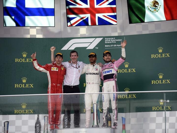 Льюис Хэмилтон стал победителем Гран-при Азербайджана «Формулы-1»