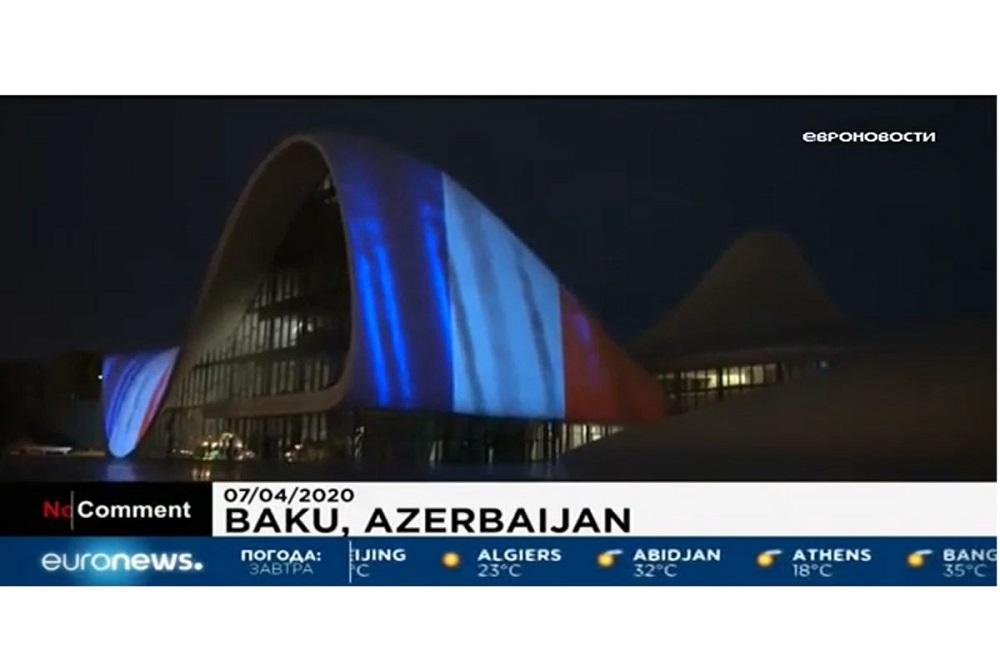 Euronews показал материал о солидарности Центра Гейдара Алиева со странами, где распространился COVID-19
