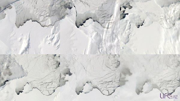 Огромное озеро в Антарктиде исчезло за три дня